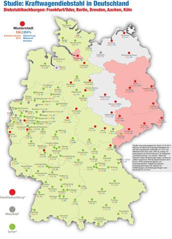 Durchschnittlich 103 Autos wurden 2013 in Deutschland täglich gestohlen - rund vier Stück jede Stunde.