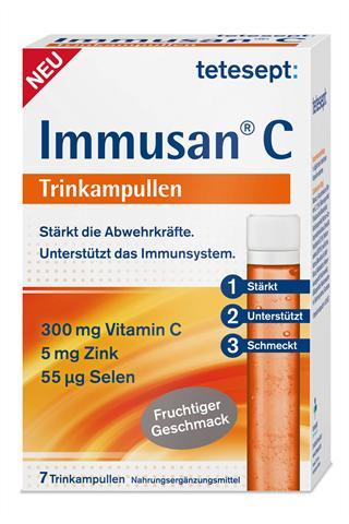 Vitamin C, Zink und Selen dienen der Stärkung der Immunabwehr.