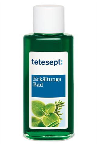 Ein Erkältungsbad mit Eukalyptus-, Thymian- und Kiefernnadelöl unterstützt die Genesung.